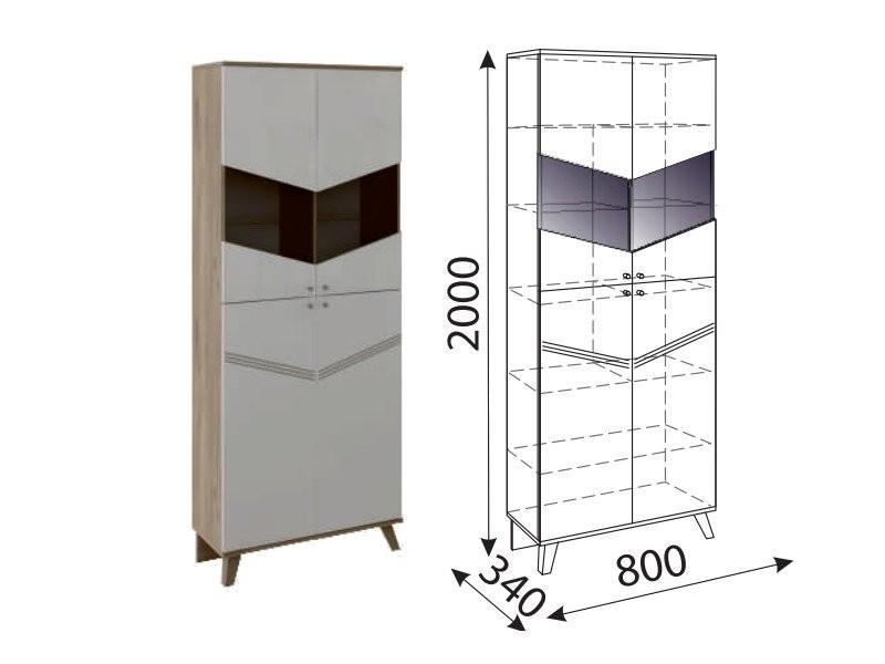 Лимба Шкаф-витрина М02