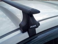 Багажник на крышу Nissan Qashqai (5-dr SUV с 2013 г), Атлант, крыловидные аэродуги (черный цвет)