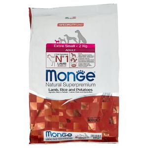 Сухой корм для собак карликовых пород Monge Daily Line Extra Small ягненком рисом и картофелем 800 гр