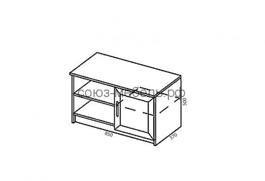 Гостиничная мебель Вояж (вешалка ВШ+вешалка ВШ+тумба ТБ+шкаф ШК2+тумба ТЯ+кровать КР 1,6x2,0+тумба ТЯ+стол СХ+полка ПН+стол СЖ)