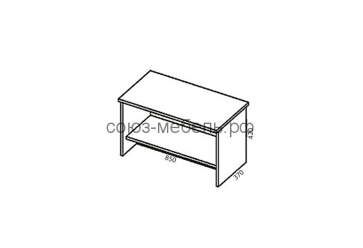 Гостиничная мебель Вояж (шкаф ШК1+вешалка ВШ+тумба ПБ+тумба ТП+кровать КР 1,6x2,0+тумба ТП+зеркало Z+стол СТ+стол СЖ)