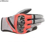 Перчатки Alpinestars Chrome, Серо-черно-красные