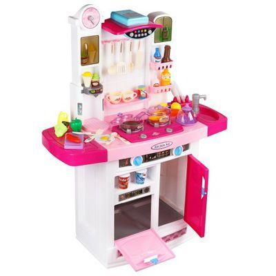 798B Кухня игровая Lux интерактивная с водой цвет Вишня 95 см.