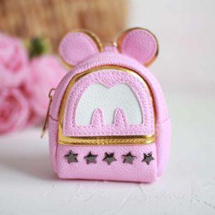 Рюкзак для куклы, Пять звезд, розовый, 10 см.