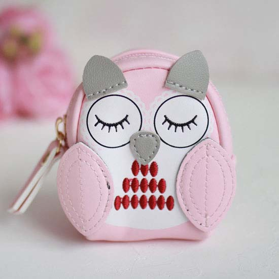 Рюкзак для куклы, Совушка, розовый, 10 см.