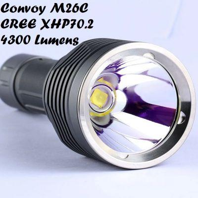 Фонарь Convoy M26C, CREE XHP70.2, ≈4300 Лм (3 оттенка света)