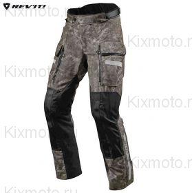 Мотоштаны Revit Sand 4 H2O текстильные, Темный комуфляжный