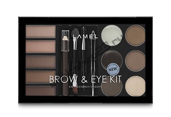 Lamel - Набор теней для глаз и бровей Professional Brow & Eye Kit