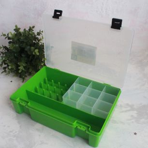 Контейнер-органайзер для хранения фурнитуры, 27 х 18 х 7 см.