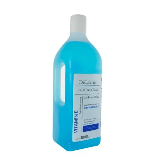 De `Lakrua Для снятия лака с ацетоном c витамином E 1000 мл