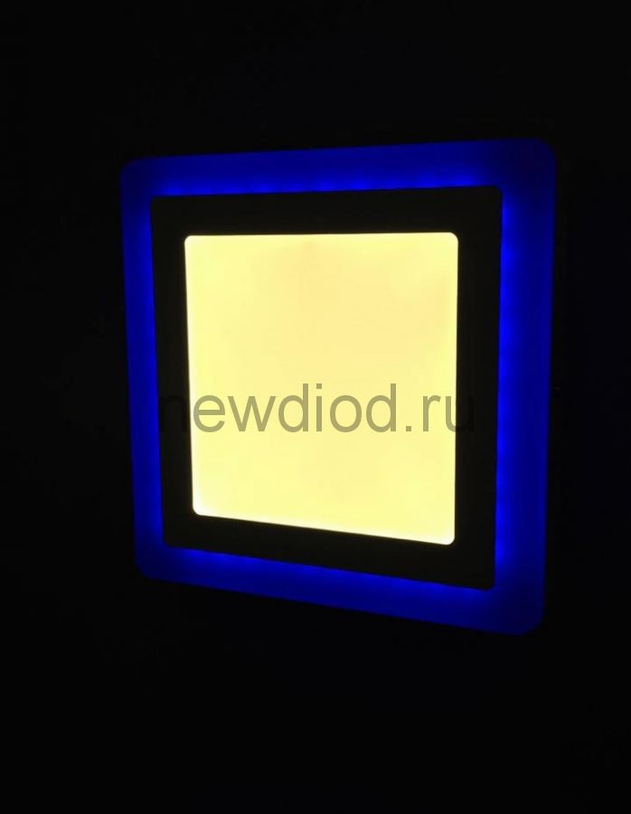 Светильник накладной Sirius 18W+6W-6м² 210/245mm синий КВАДРАТ Oreol (20/кор)