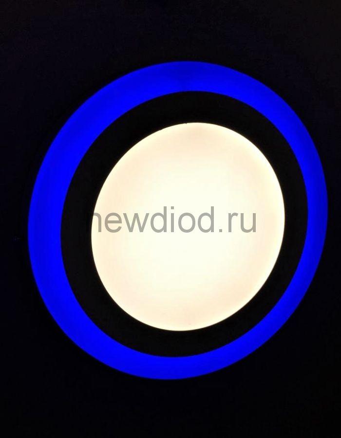 Светильник накладной Sirius 18W+6W-6м² 210/245mm синий КРУГ Oreol (20/кор)