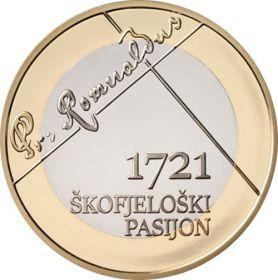 300 лет с первого дня проведения шествия покаяния в Шкофья-Локе 3 евро Словения 2021 на заказ