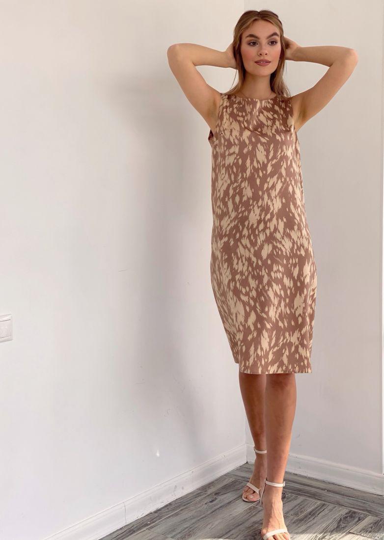 4126 Платье с анималистичным принтом