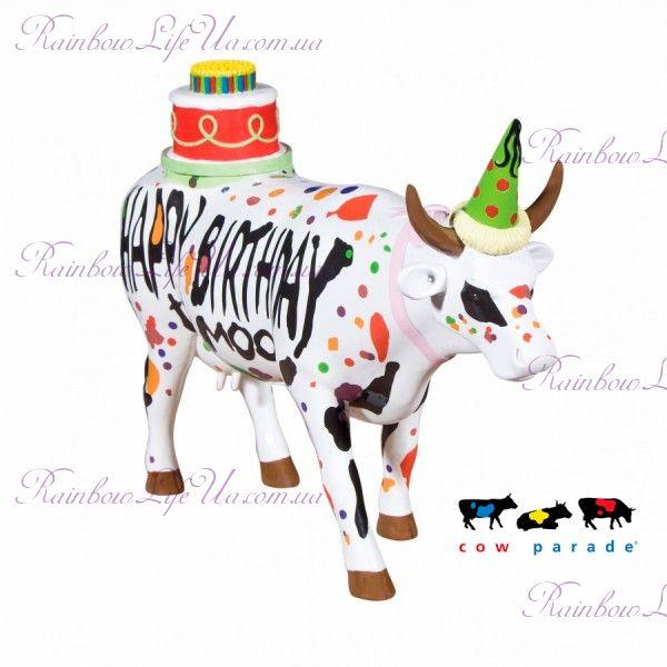 """Коллекционная статуэтка корова """"Happy Birthday"""", Size L"""