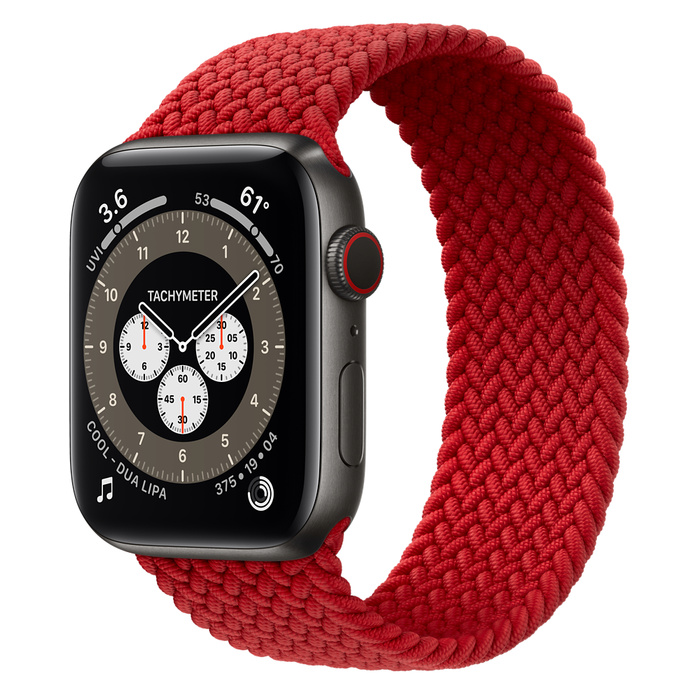 Часы Apple Watch Edition Series 6 GPS + Cellular 44mm Space Black Titanium Case with (PRODUCT)RED Braided Solo Loop