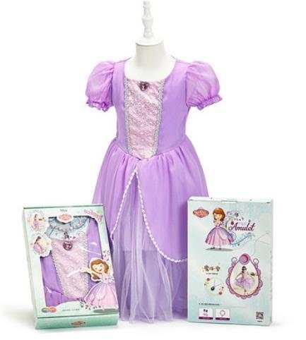 Платье принцессы Софии Прекрасной с аксессуарами