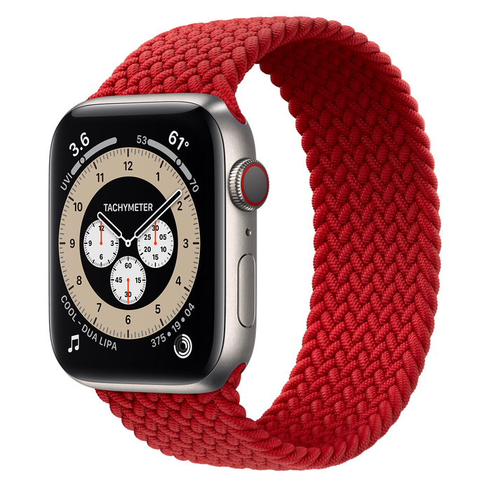 Ремешок Apple Watch Series 6 (PRODUCT)RED Braided Solo Loop (для корпуса 44 мм)