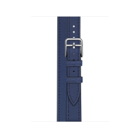 Ремешок Apple Watch Hermès Bleu Saphir Swift Leather Attelage Double Tour из кожи (для корпуса 40 мм)