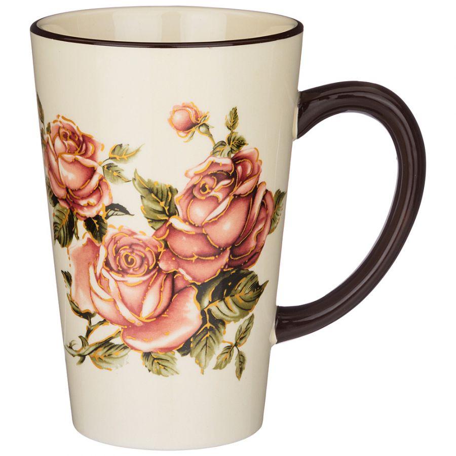 "Кружка ""Корейская роза"" 13.5x9.5x14.5 см. / 530 мл."