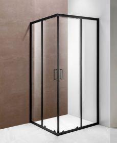 Душевой уголок Oporto Shower A-54 BLACK 90x90x185 см, две раздвижные двери