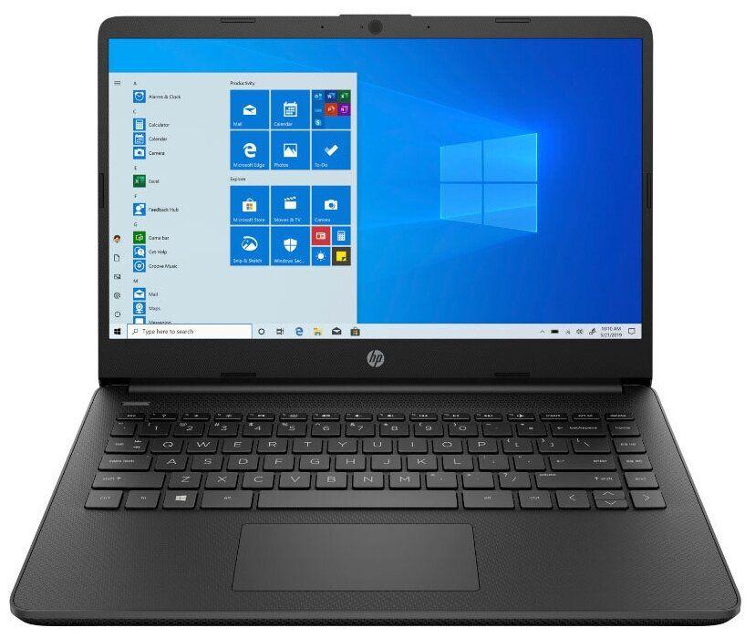 Ноутбук HP 14s-fq0091ur Чёрный (3B3M5EA)