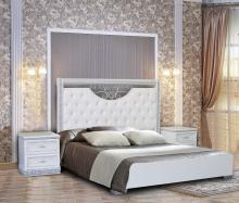 Спальня БЕРТА 1,4  3-дверный шкаф белый жемчуг