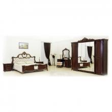 Спальня ЛОРЕНА 1,8 6-дверный шкаф темный орех