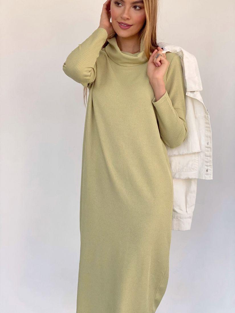 2960 Платье-свитер лимонное