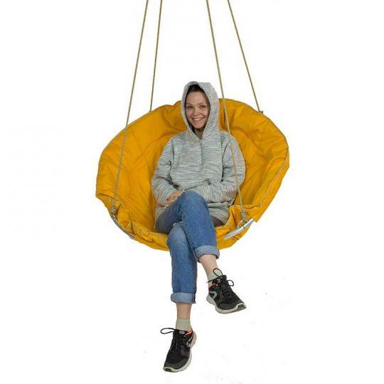Подвесное кресло d-90см, цвет желтый