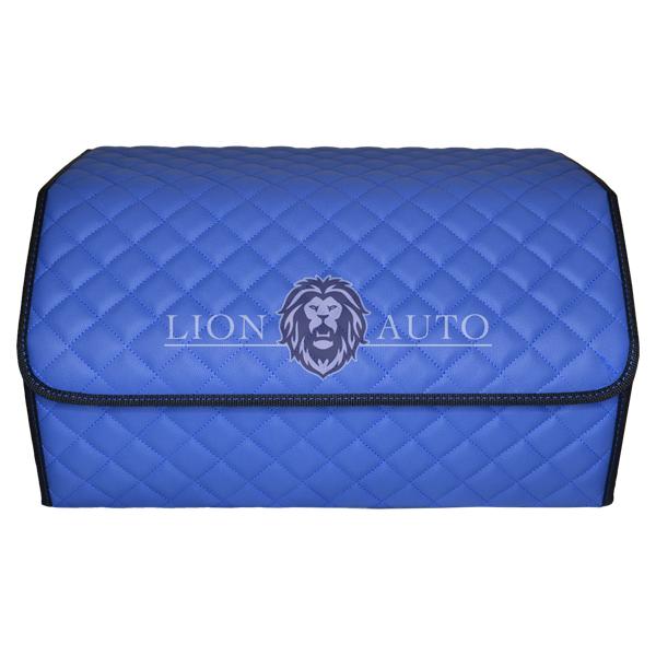 Органайзер в авто большой (синий с синей строчкой)