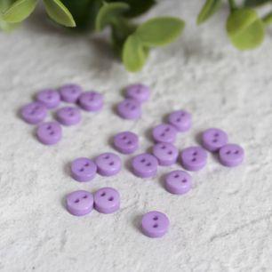 Набор мини пуговиц для творчества, фиолетовые, 10 шт., 5 мм.
