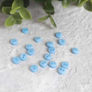 Набор мини пуговиц для творчества, светло-голубые, 10 шт., 5 мм.