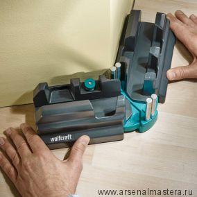 Угломер и стусло в одном (макс.высота плинтуса 70 мм) для измерения и снятия углов от 85 до 180 гр Wolfcraft 6948000