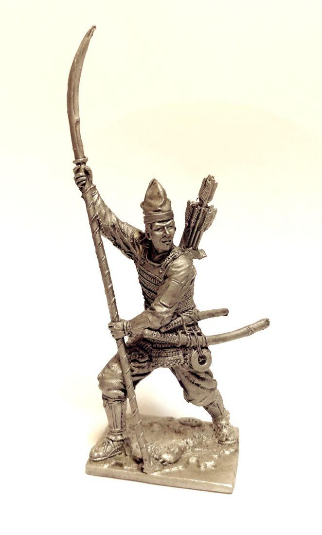 Фигурка Самурай асигару Япония 15-16в. олово