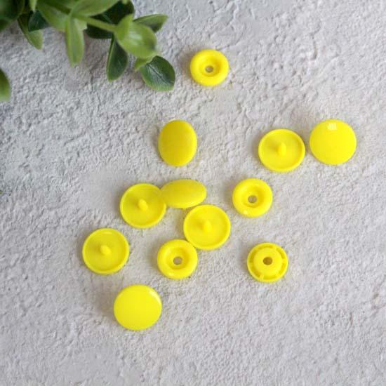 Кнопки пластиковые - Желтые, 12 мм