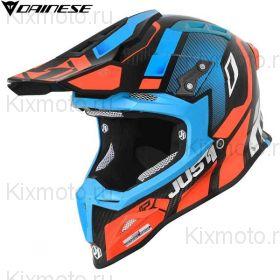 Шлем Just1 J12 Vector, Оранжево-голубой