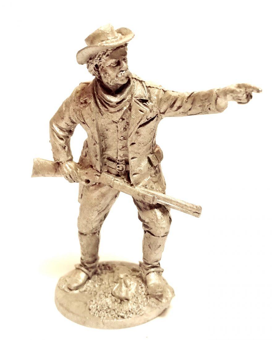 Фигурка Ковбой с ружьем в шляпе олово