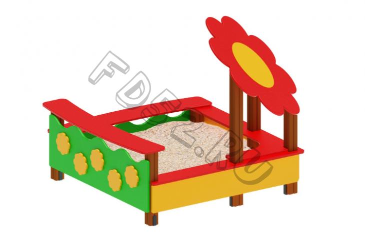 Песочница Ромашка                 1850х1850х1820