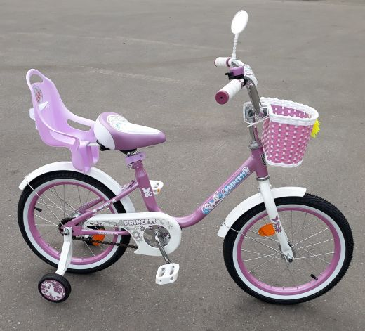 Велосипед Black Aqua Pink с креслом Rose