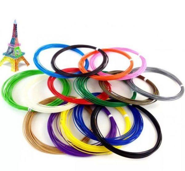 Набор пластика для 3D ручки 5 м, 20 цветов