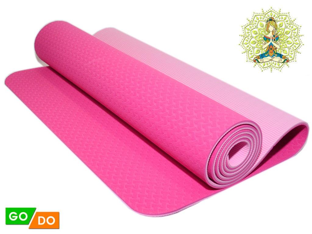 Коврик для йоги и фитнеса. Цвет Розовый, артикул 00071
