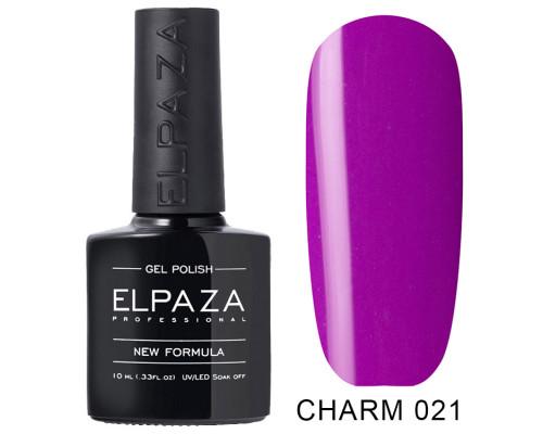 ELPAZA ГЕЛЬ-ЛАК  Charm 021  Фианит (Фиолетово-розовый)    10 мл
