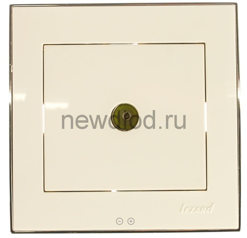 RAIN Розетка TV белая с бок. вст. хром Lezard