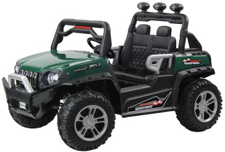 Джип детский электромобиль 4 WD DLS02 (12V, колесо пластик) зелёный