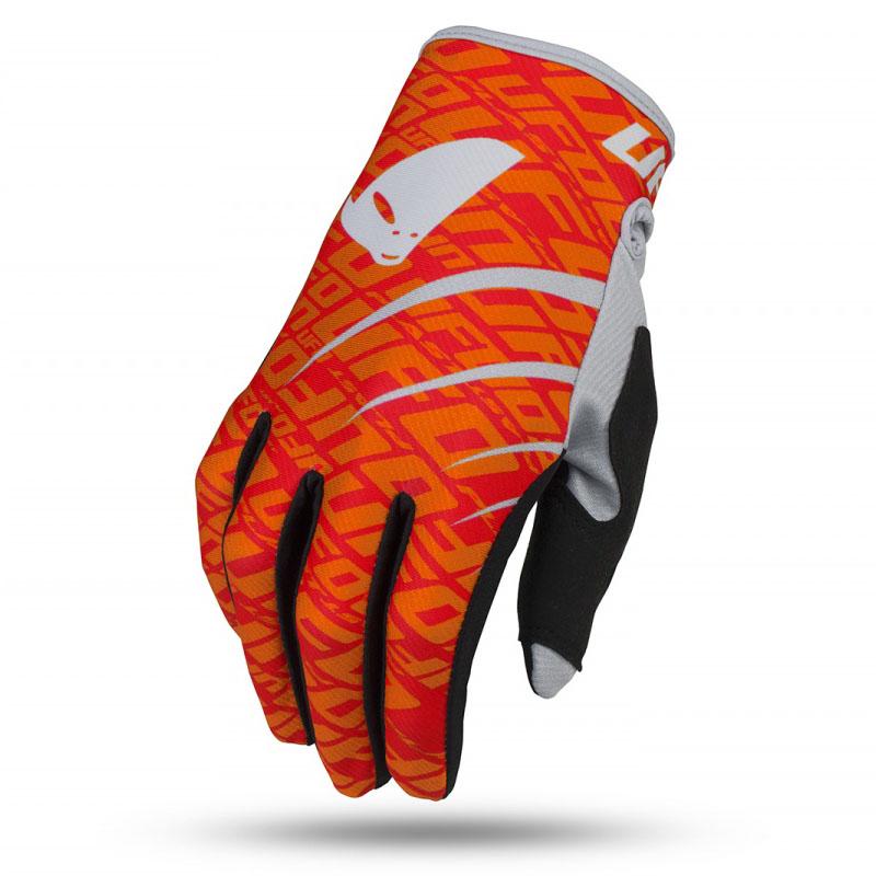 UFO Skill Indium Glove Red Fluo перчатки для мотокросса, красные
