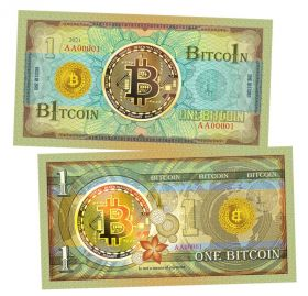 One BITCON (1 Биткоин). Памятная банкнота. UNC