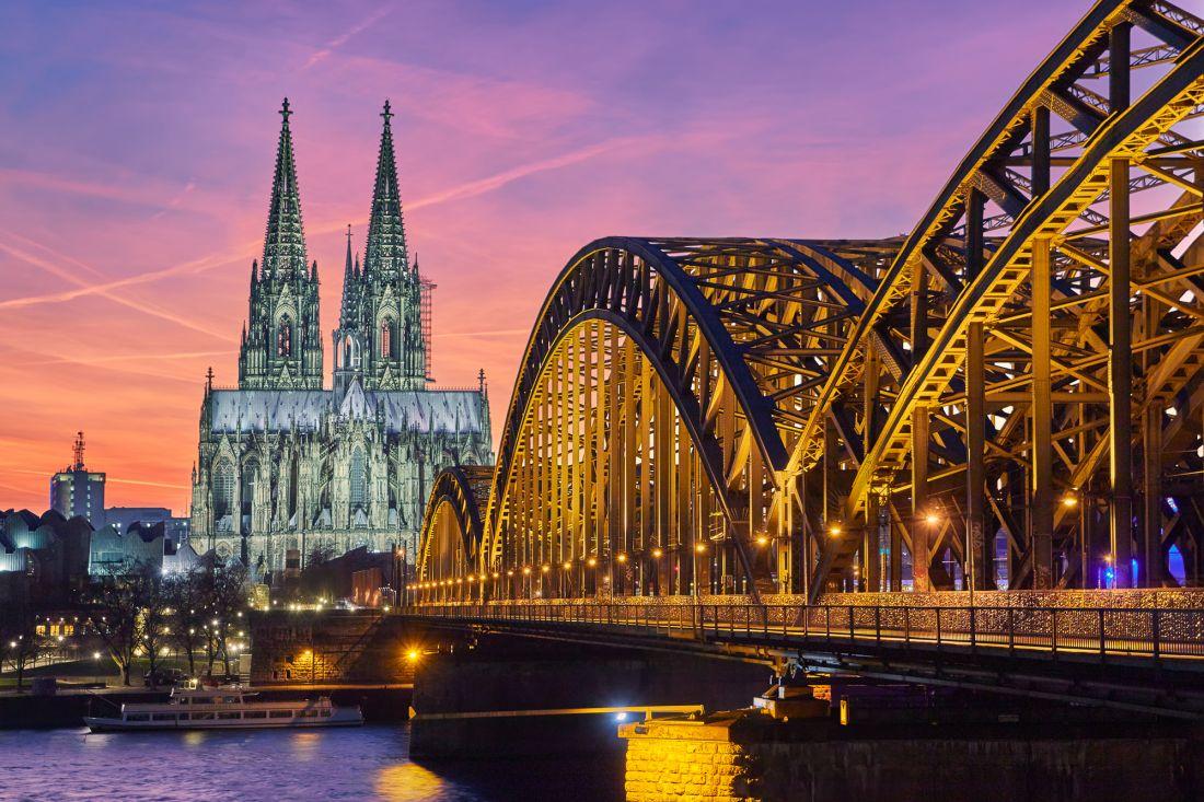Гогенцоллернов мост на закате 16-031