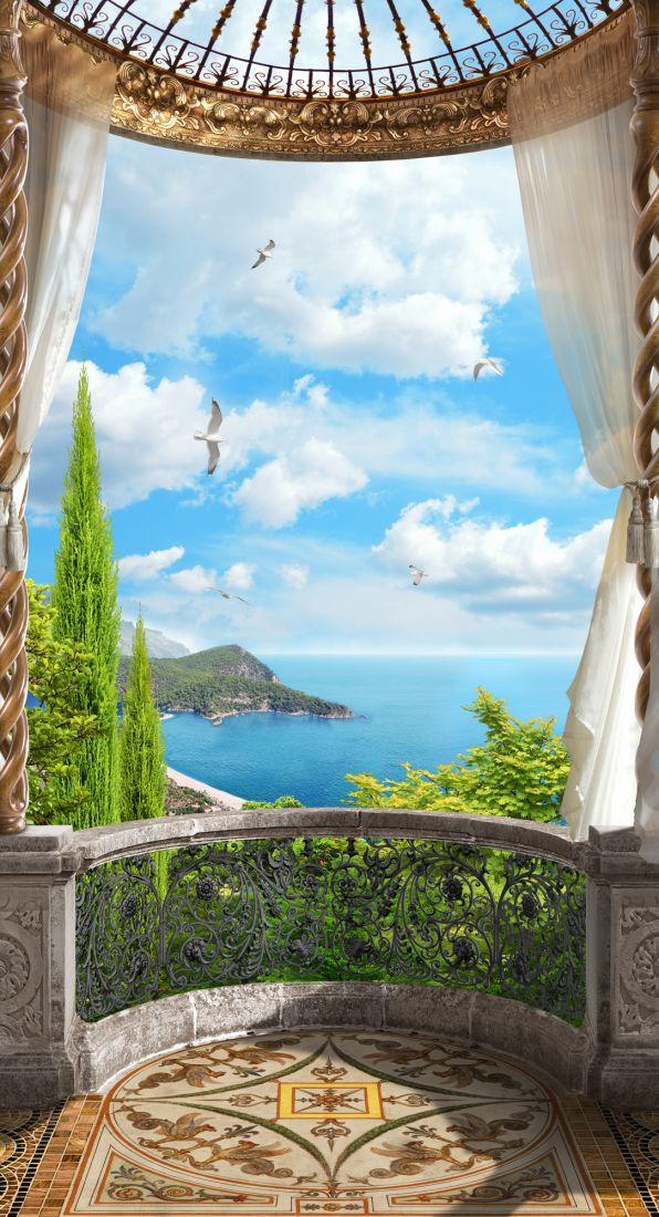 Балкон с видом на море 14-51