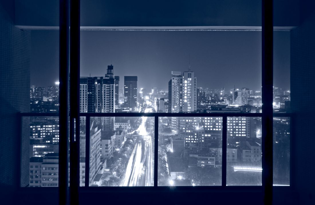 Панорамный вид на ночной город 14-20